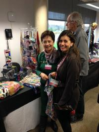 Claudia Luque Studio - Claudia Luque with Clara Hancock at East Finchley Open 2014