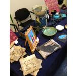 Claudia Luque exhibition stand at East Finchley Open 2014